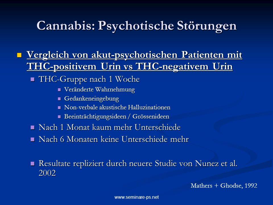 Cannabis: Psychotische Störungen