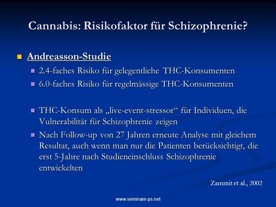 Cannabis: Risikofaktor für Schizophrenie