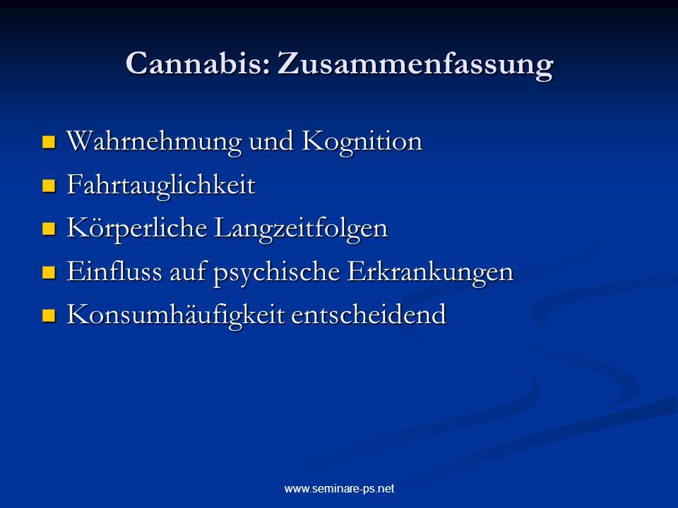 Cannabis: Zusammenfassung