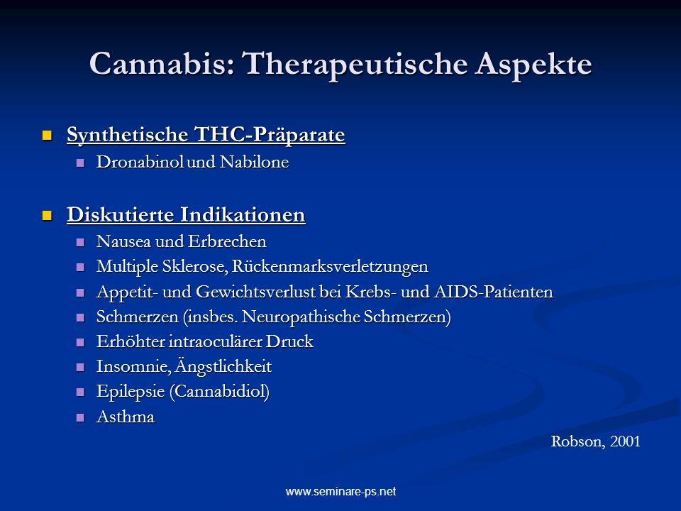 Cannabis: Therapeutische Aspekte