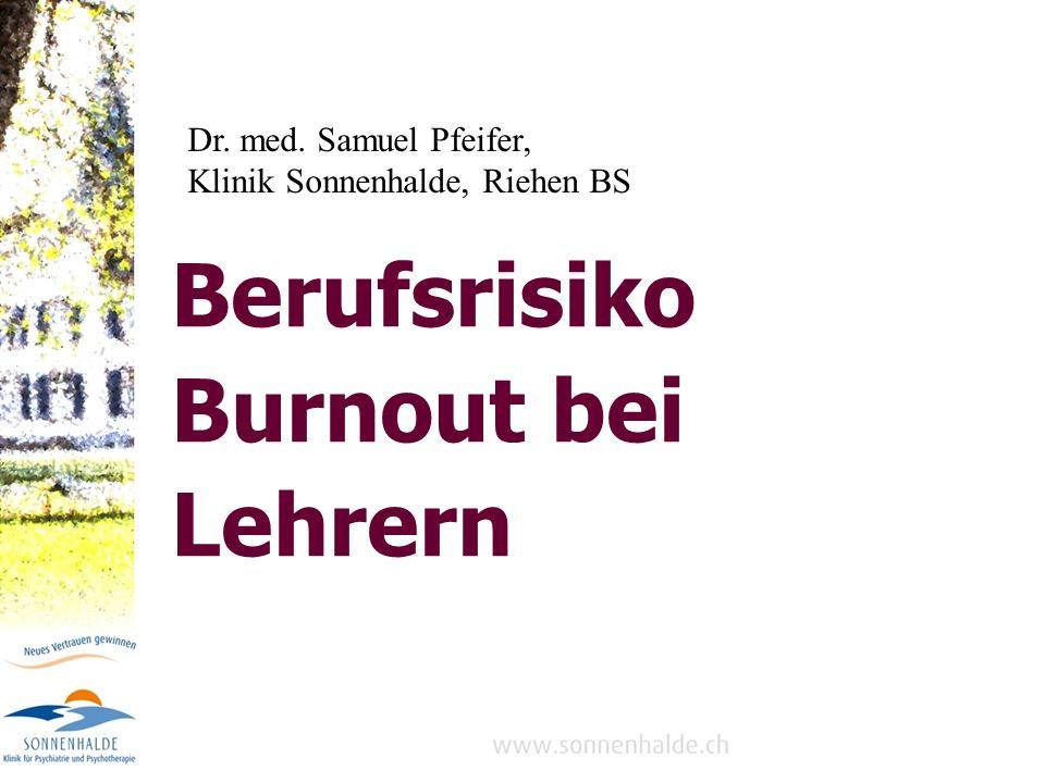 Berufsrisiko Burnout bei Lehrern
