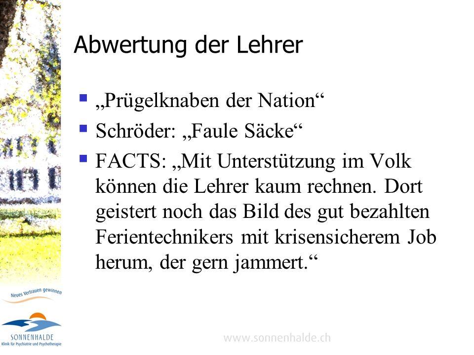 """Abwertung der Lehrer """"Prügelknaben der Nation Schröder: """"Faule Säcke"""