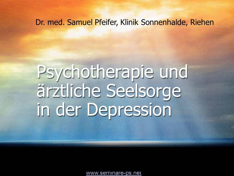 Psychotherapie und ärztliche Seelsorge in der Depression