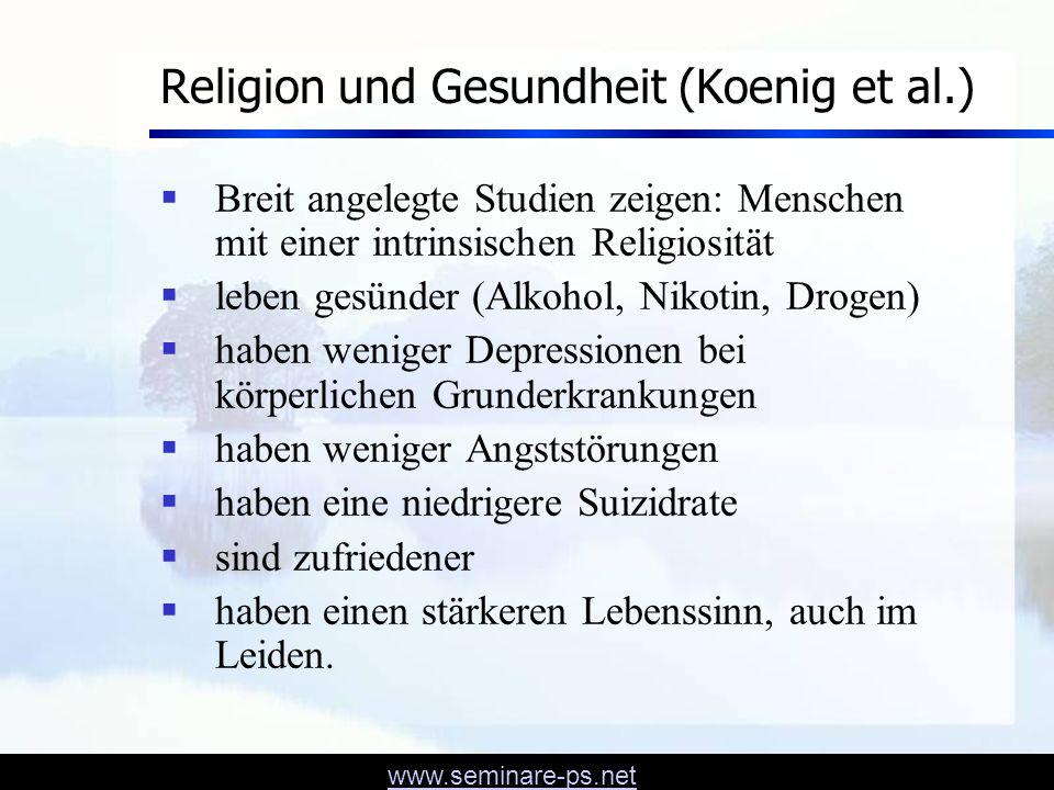 Religion und Gesundheit (Koenig et al.)