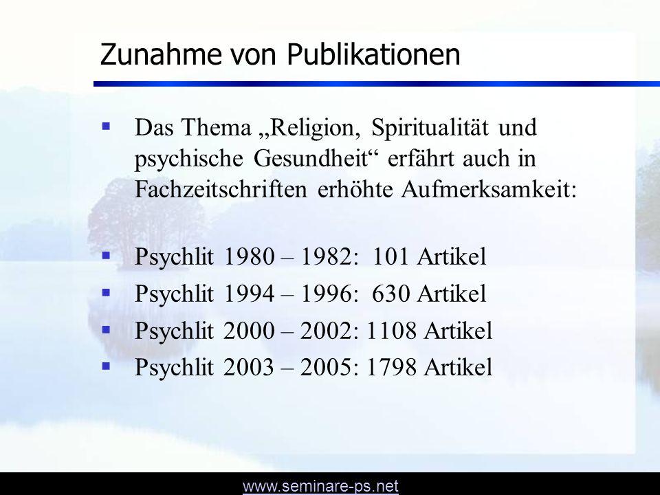 Zunahme von Publikationen