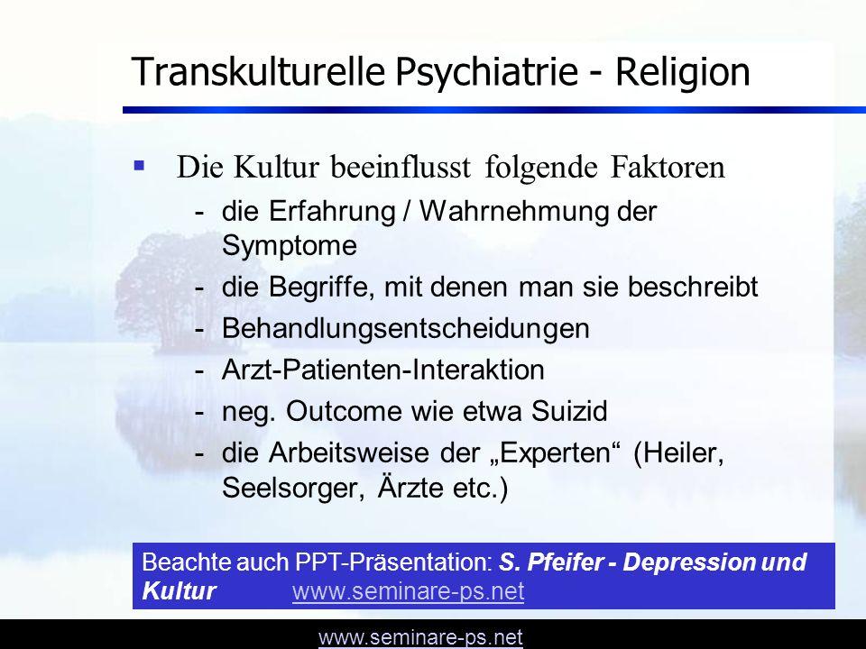 Transkulturelle Psychiatrie - Religion