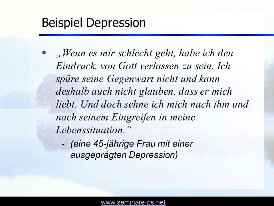 Beispiel Depression