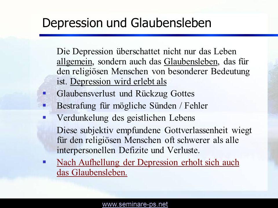Depression und Glaubensleben