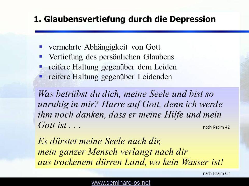 1. Glaubensvertiefung durch die Depression