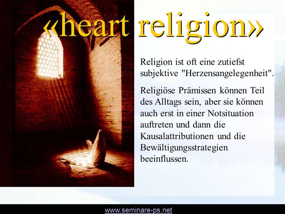«heart religion» Religion ist oft eine zutiefst subjektive Herzensangelegenheit .