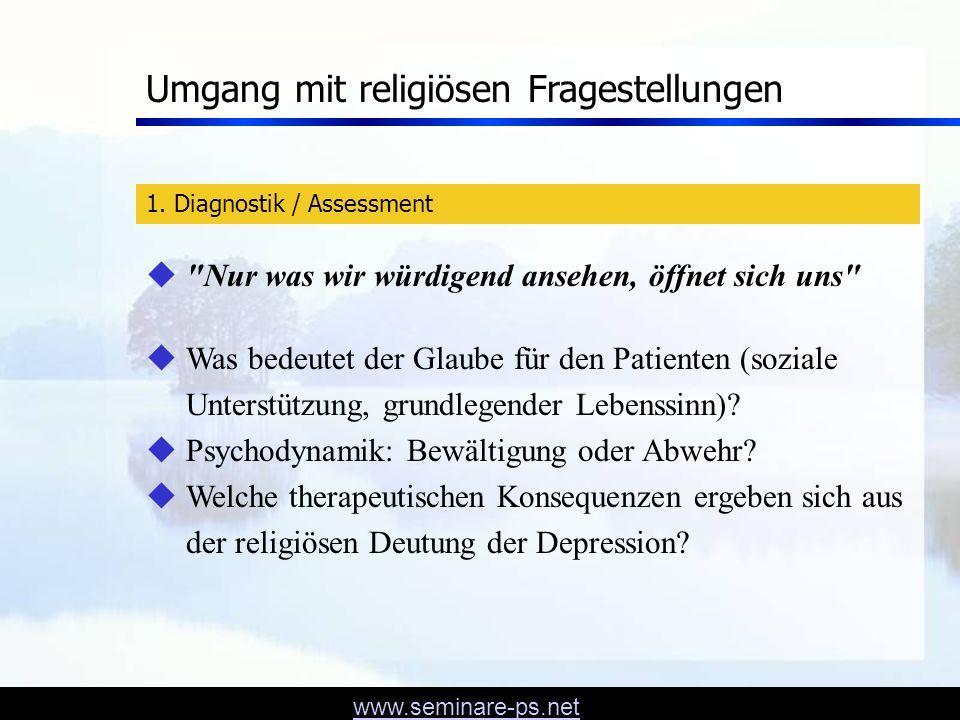 Umgang mit religiösen Fragestellungen