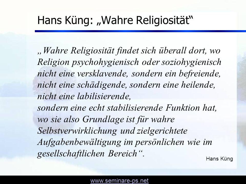 """Hans Küng: """"Wahre Religiosität"""
