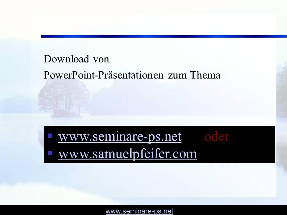 www.seminare-ps.net oder www.samuelpfeifer.com