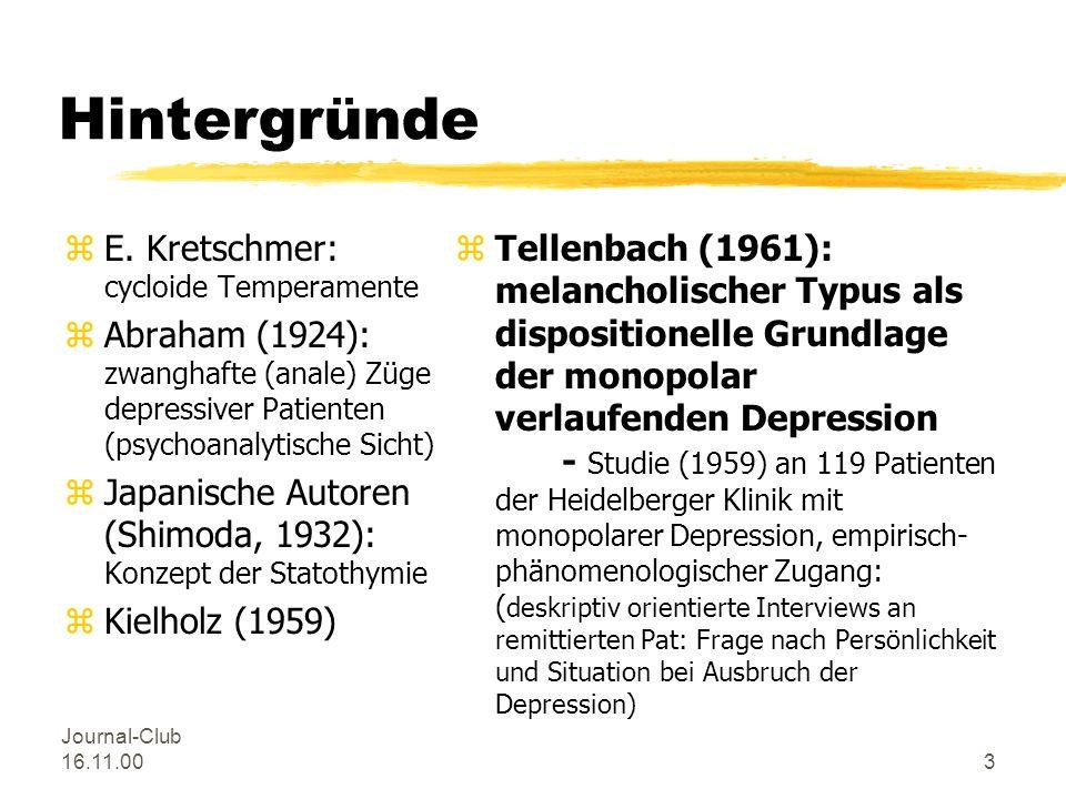 Hintergründe E. Kretschmer: cycloide Temperamente