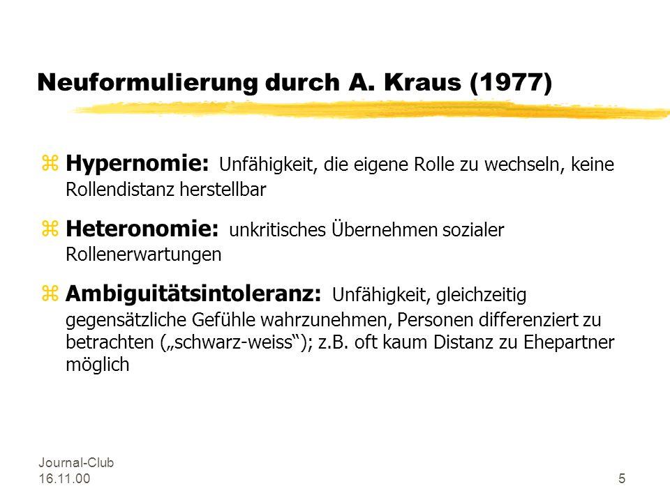 Neuformulierung durch A. Kraus (1977)