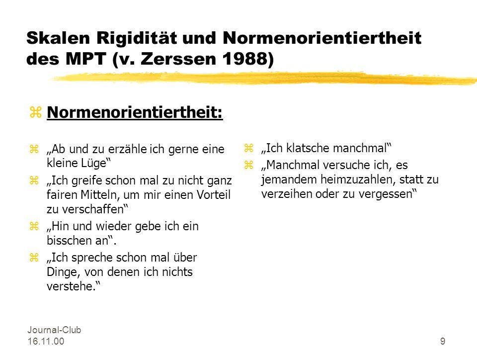 Skalen Rigidität und Normenorientiertheit des MPT (v. Zerssen 1988)