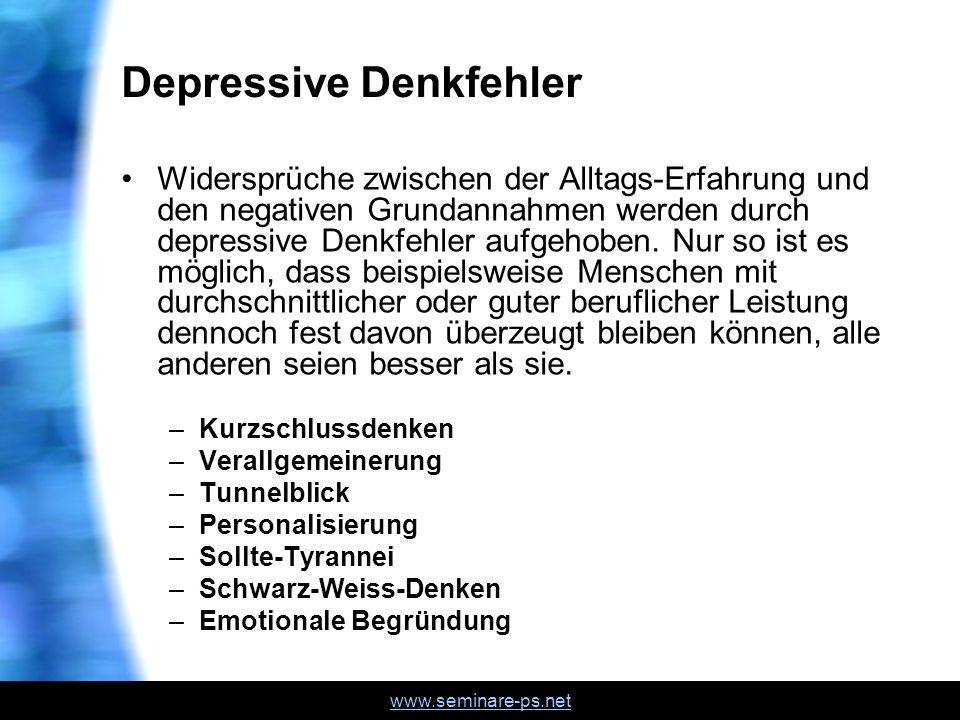 Depressive Denkfehler