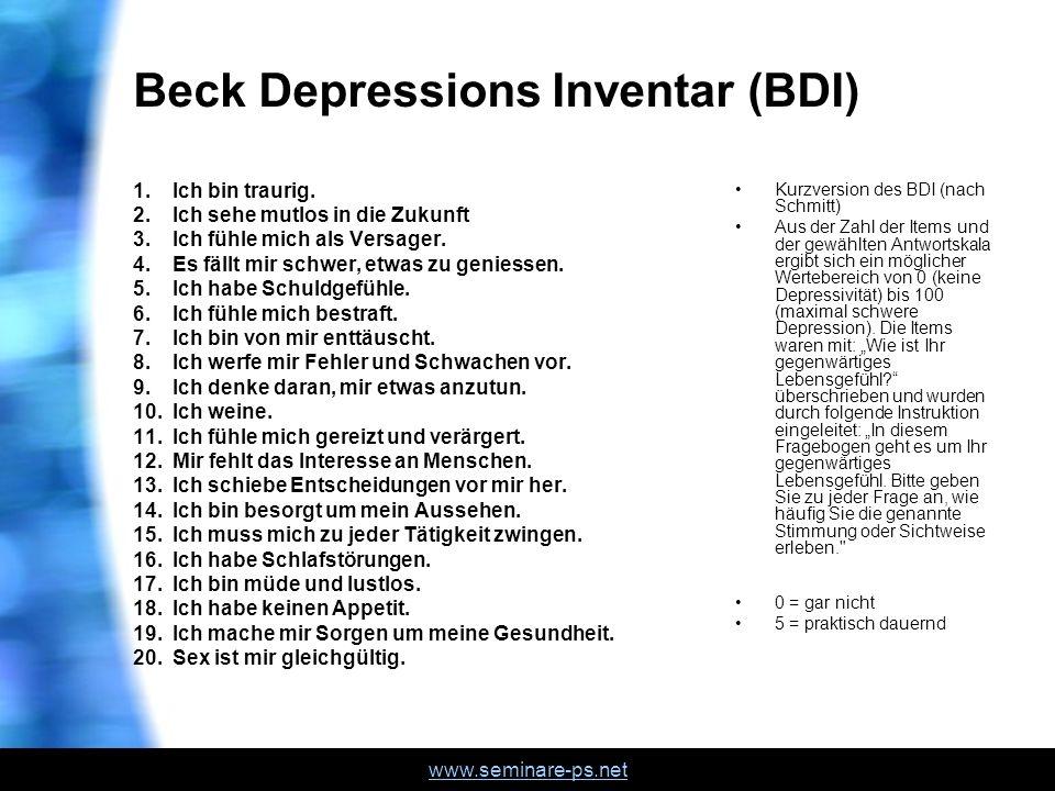 Beck Depressions Inventar (BDI)