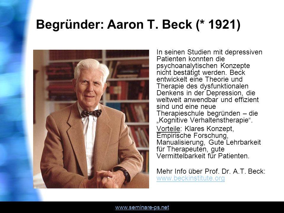 Begründer: Aaron T. Beck (* 1921)