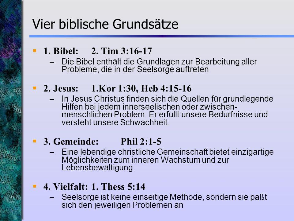 Vier biblische Grundsätze
