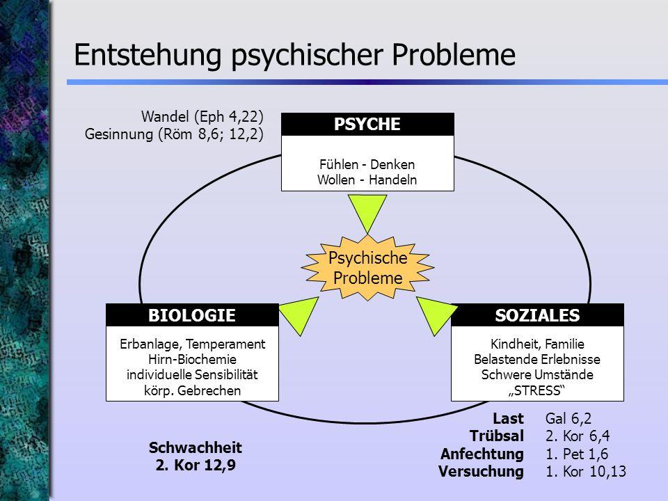 Entstehung psychischer Probleme