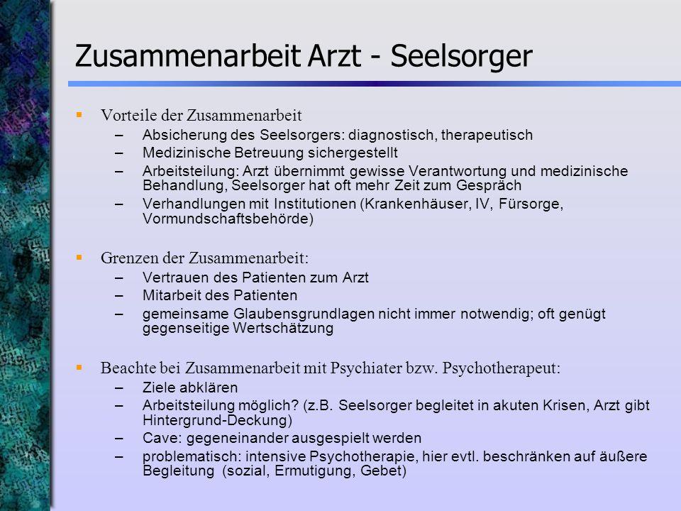 Zusammenarbeit Arzt - Seelsorger