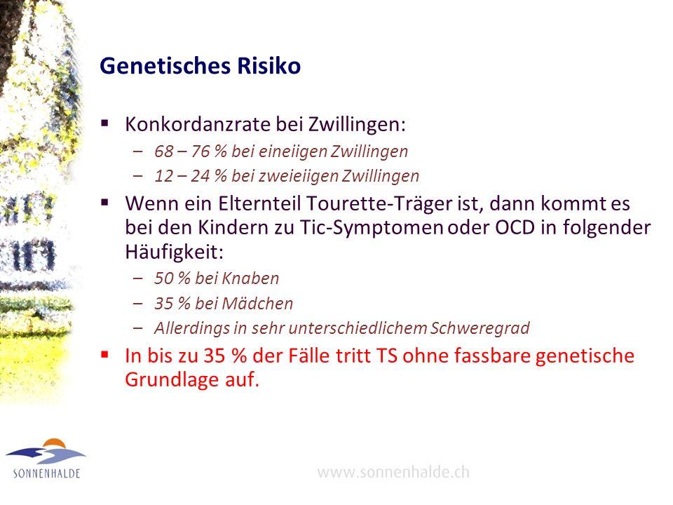 Genetisches Risiko Konkordanzrate bei Zwillingen: