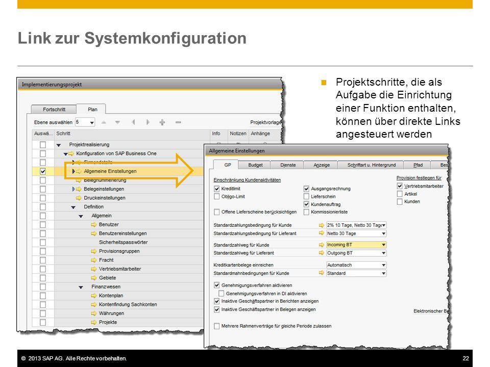 Link zur Systemkonfiguration