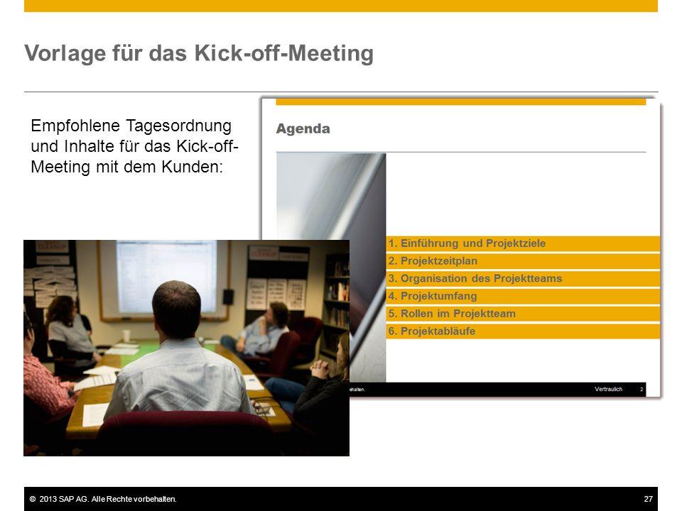 Vorlage für das Kick-off-Meeting