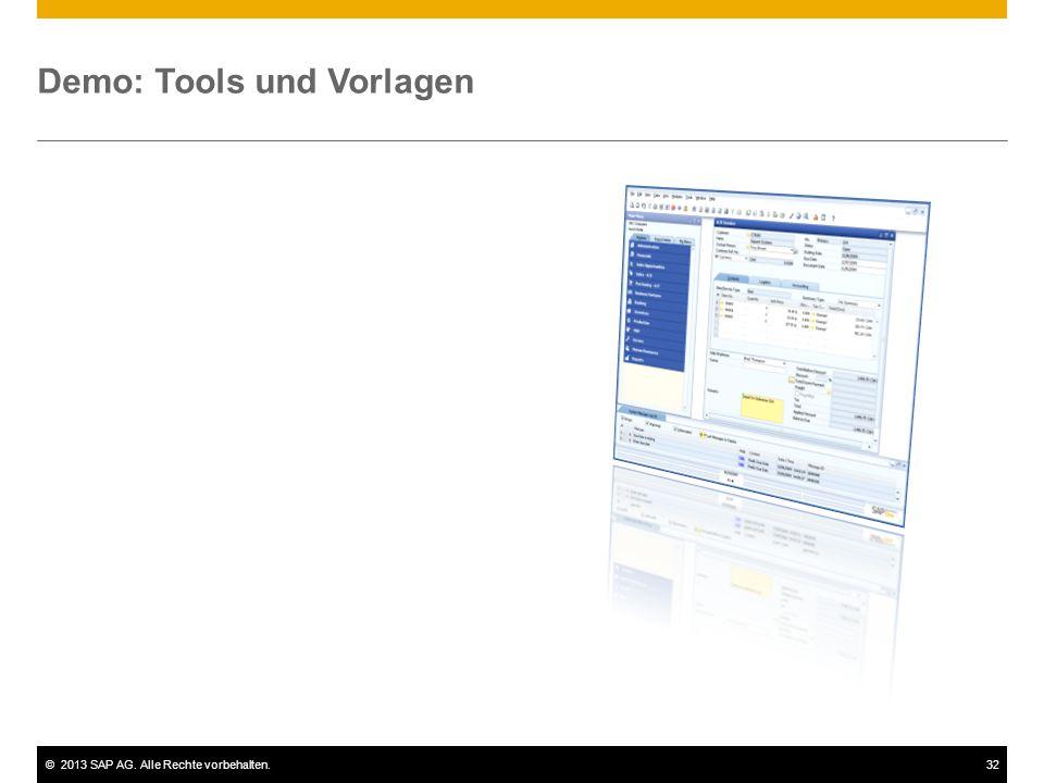 Demo: Tools und Vorlagen