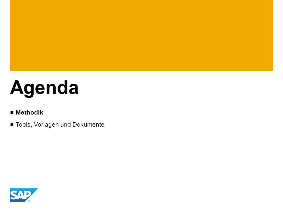 Agenda Methodik Tools, Vorlagen und Dokumente