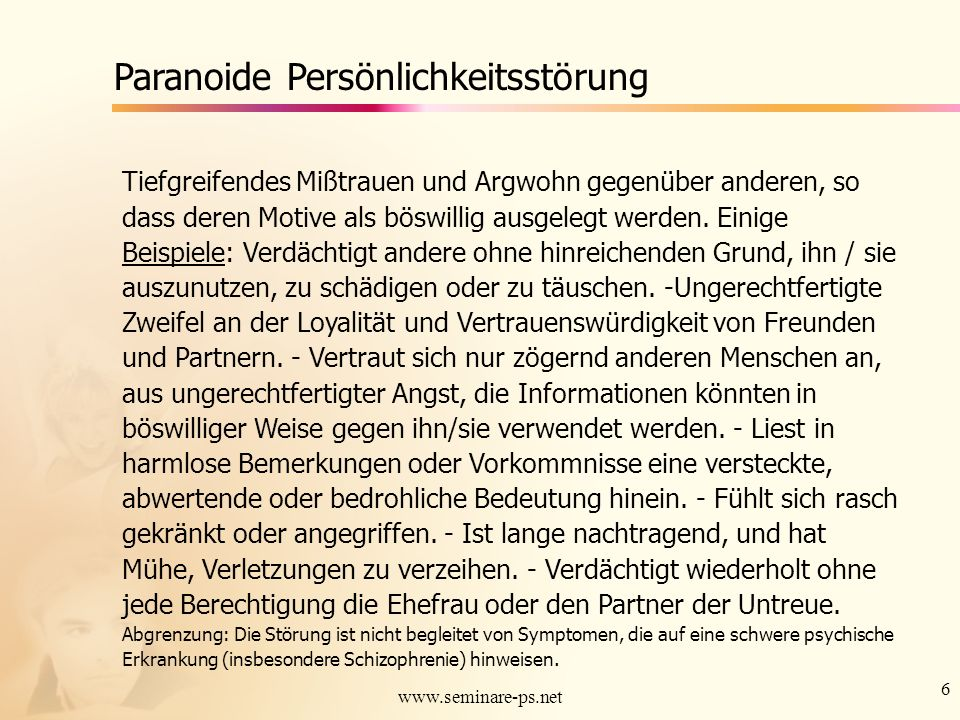 Paranoide Persönlichkeitsstörung