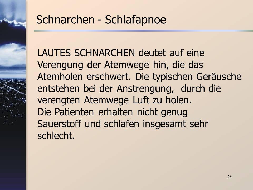 Schnarchen - Schlafapnoe