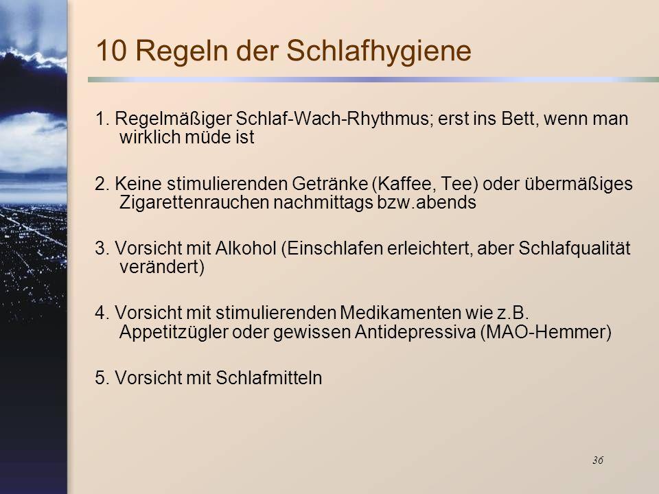 10 Regeln der Schlafhygiene