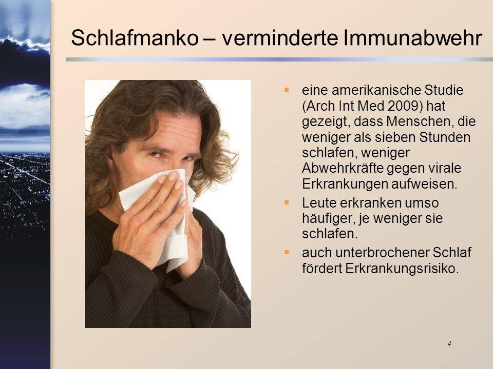 Schlafmanko – verminderte Immunabwehr