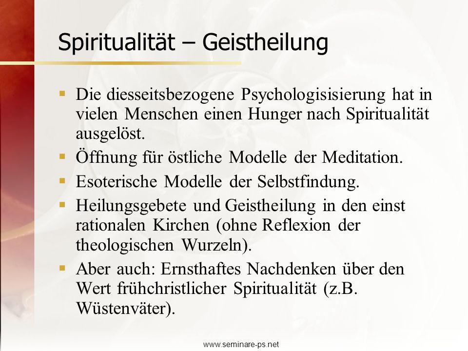 Spiritualität – Geistheilung