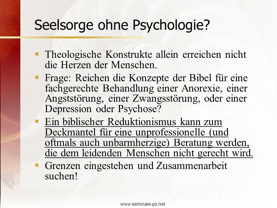 Seelsorge ohne Psychologie