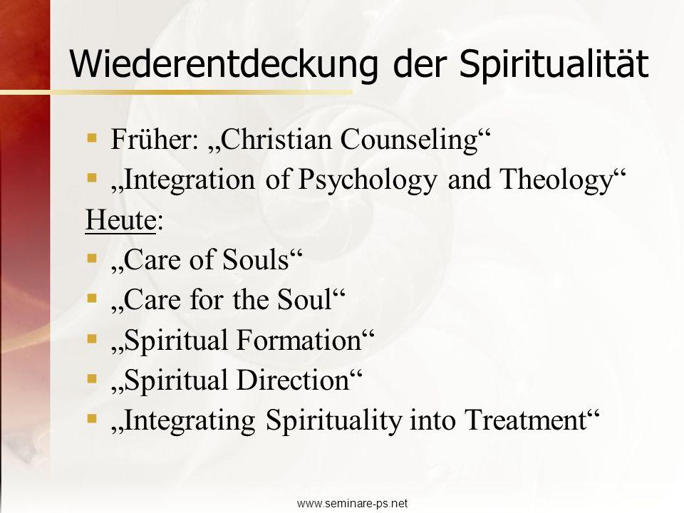 Wiederentdeckung der Spiritualität