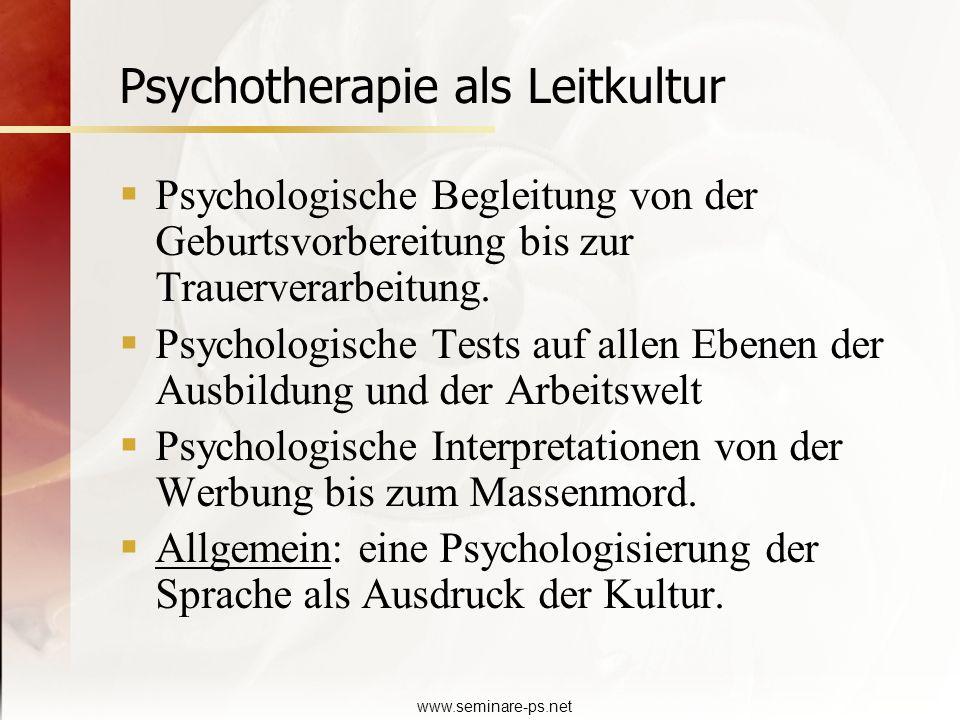 Psychotherapie als Leitkultur