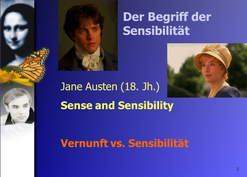 Der Begriff der Sensibilität