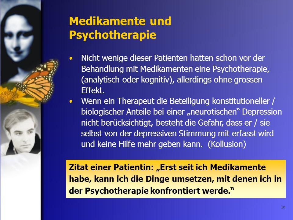 Medikamente und Psychotherapie
