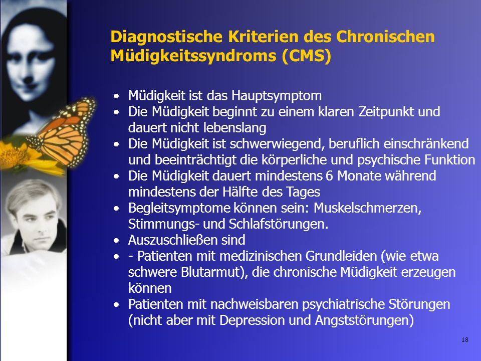 Diagnostische Kriterien des Chronischen Müdigkeitssyndroms (CMS)