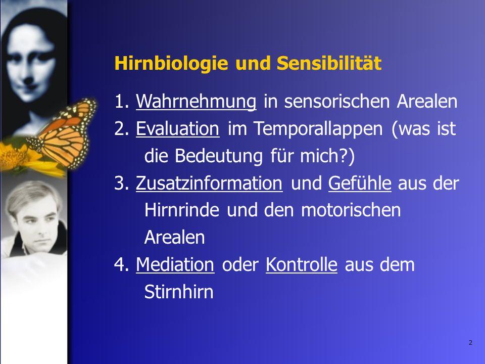 Hirnbiologie und Sensibilität