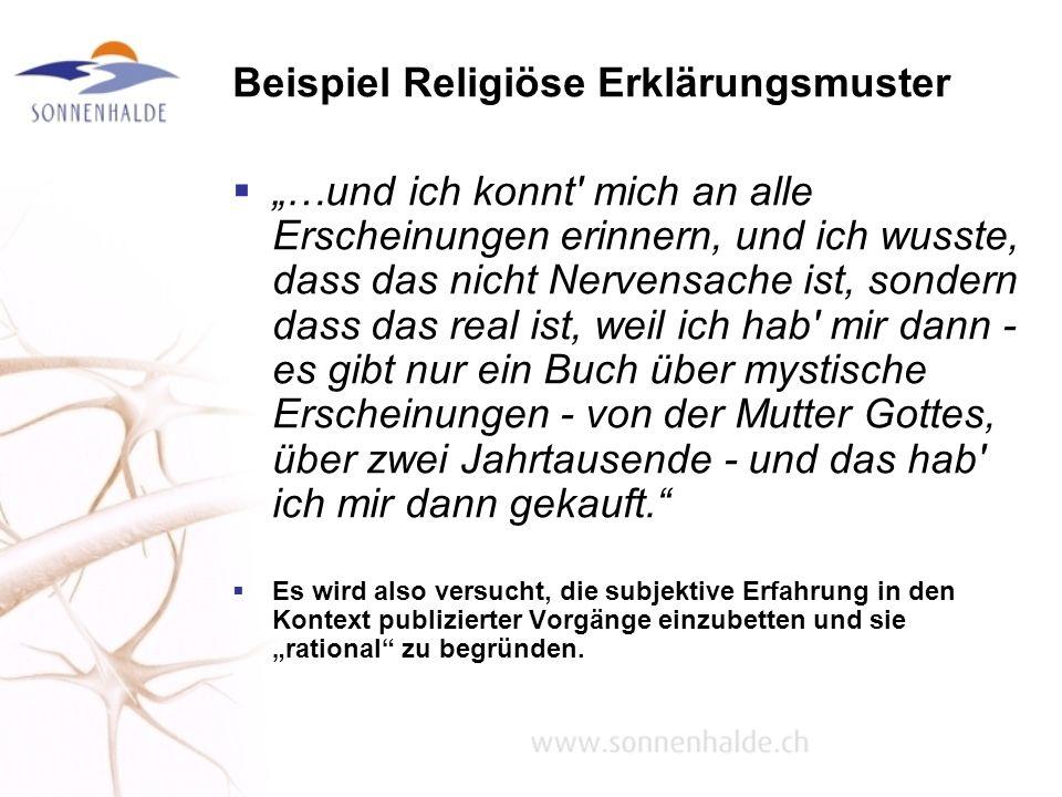 Beispiel Religiöse Erklärungsmuster