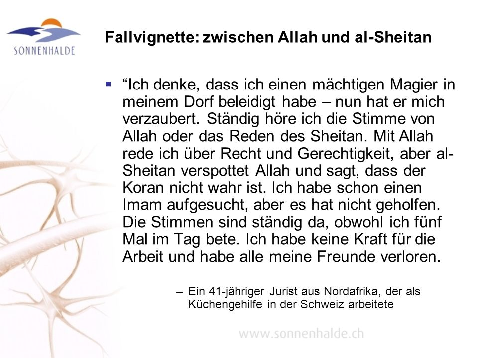 Fallvignette: zwischen Allah und al-Sheitan