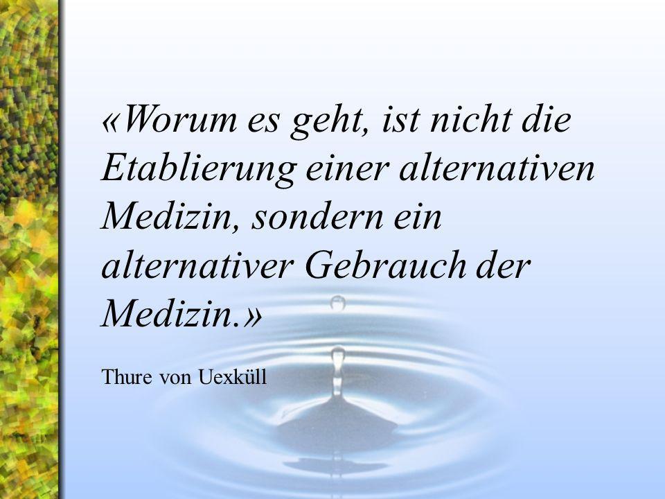«Worum es geht, ist nicht die Etablierung einer alternativen Medizin, sondern ein alternativer Gebrauch der Medizin.»