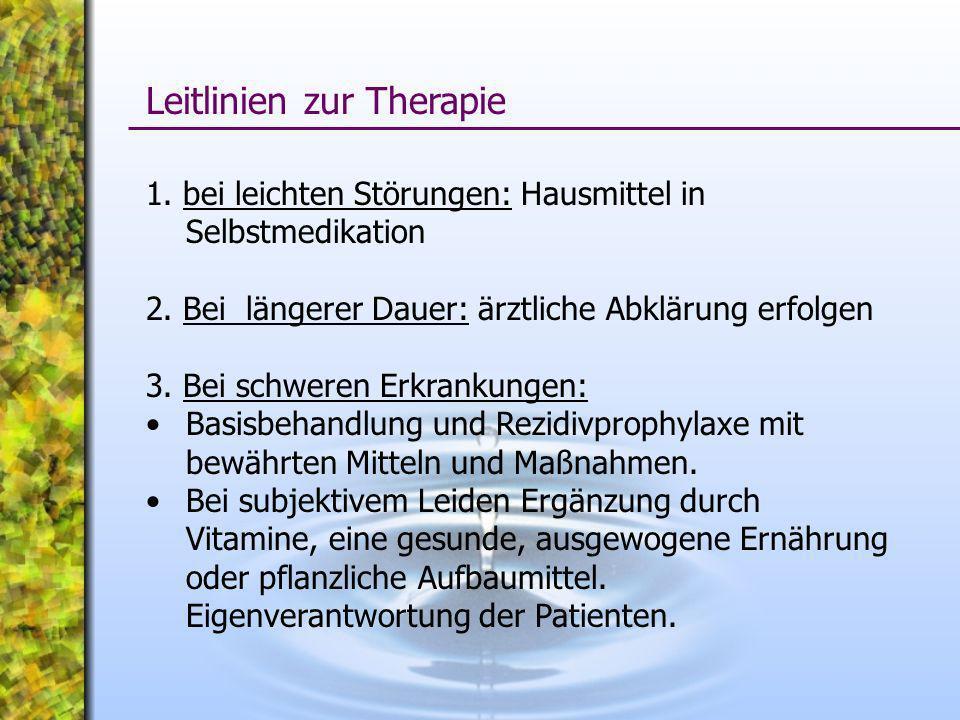 Leitlinien zur Therapie
