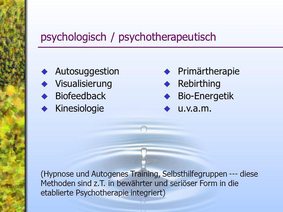 psychologisch / psychotherapeutisch
