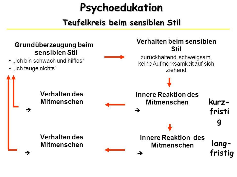 Psychoedukation Teufelkreis beim sensiblen Stil kurz-fristig
