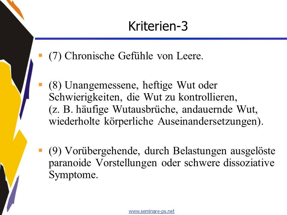 Kriterien-3 (7) Chronische Gefühle von Leere.